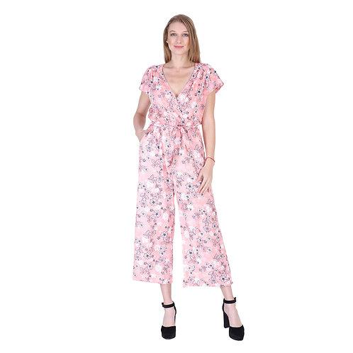 Rayon Print Long Jumpsuit
