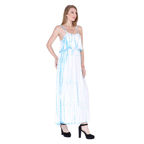 Rayon Color Long Dress
