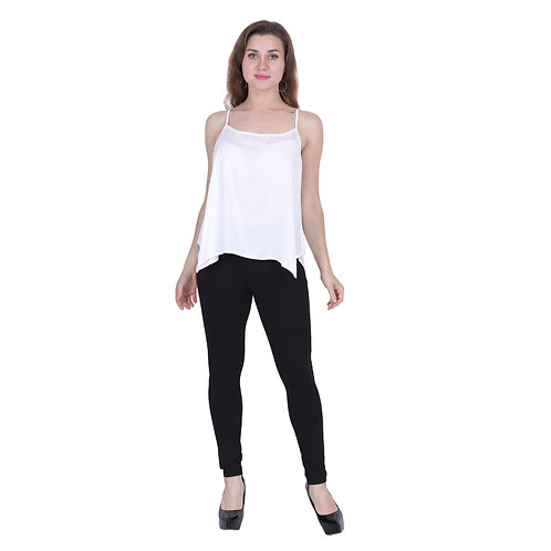 White Color Rayon Top