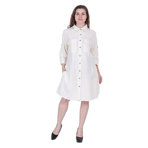 White Color Short Tunic