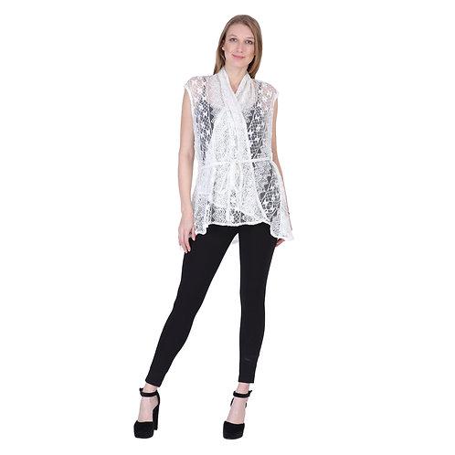 White Color Kimono Net