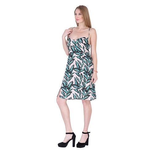 Rayon Print Long Dress