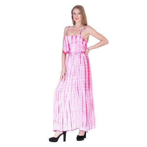 Tie Color Long Dress