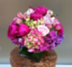 FIFA pink ball flower arrangement Angela & Gabriel's Flowers Inc