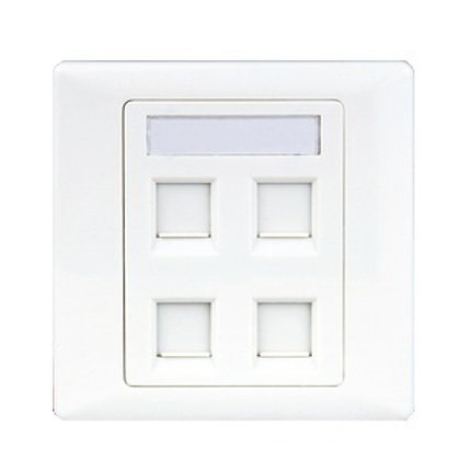 Cat6 Face Plate - 4 Ports