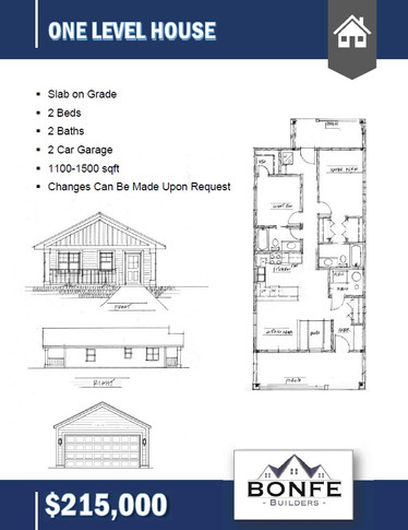 One Level Floor Plan
