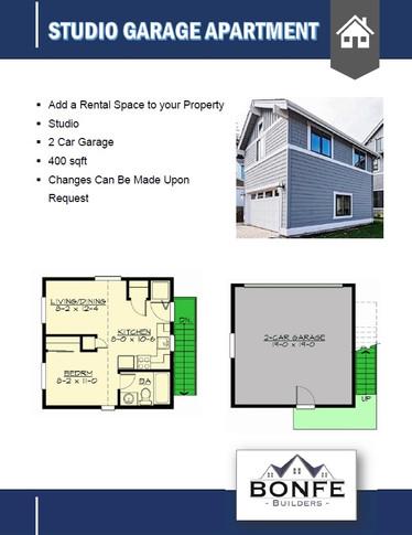 Garage with Studio Floor Plan