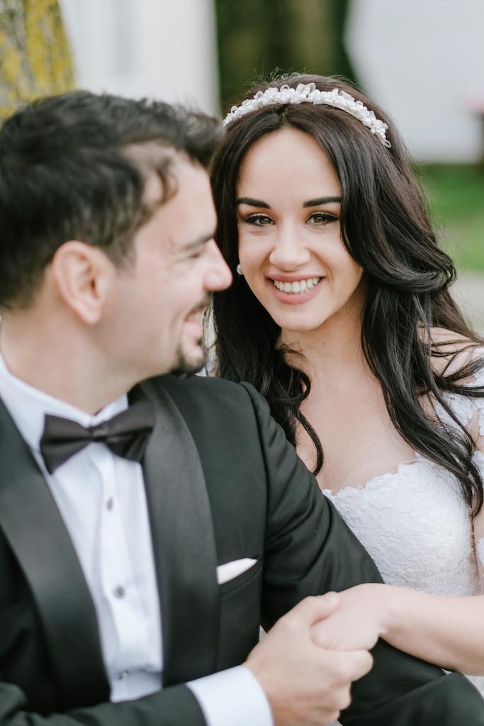 Altug and Deniz on their honeymoon in Amsterdam having a wedding photo shoot.
