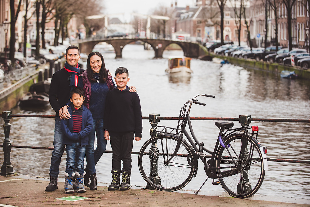 Family in Amsterdam