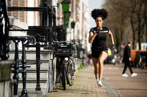 Model running in Amsterdam