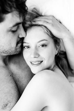 Intimate couple photo shoot.