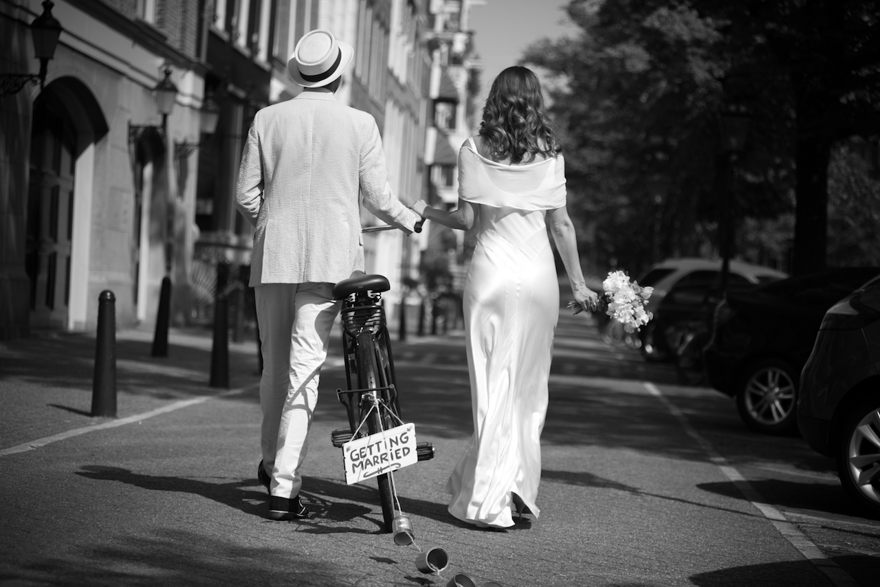 Just married in Amsterdam city