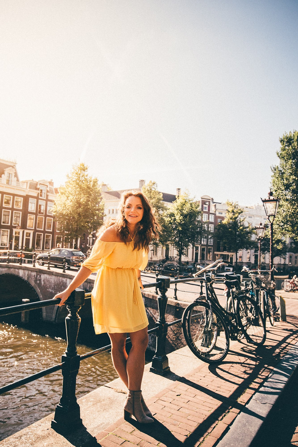 A girl in Amsterdam