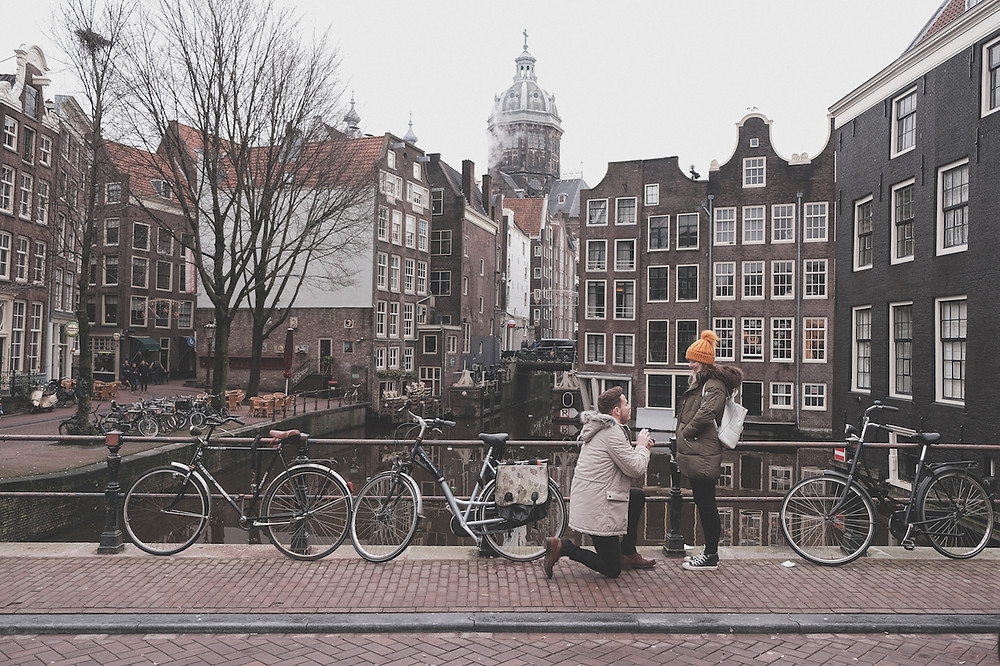 Secret proposal in Amsterdam