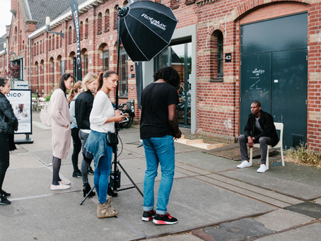 What happens behind the scenes of a fashion shoot