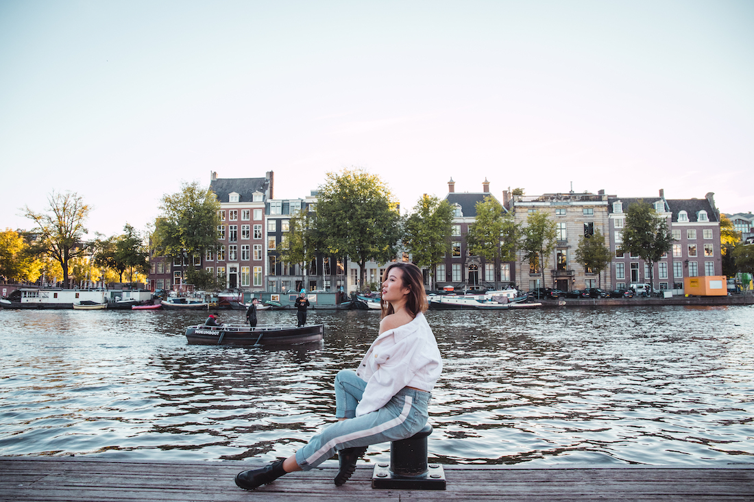 Photoshoot in Amsterdam canals