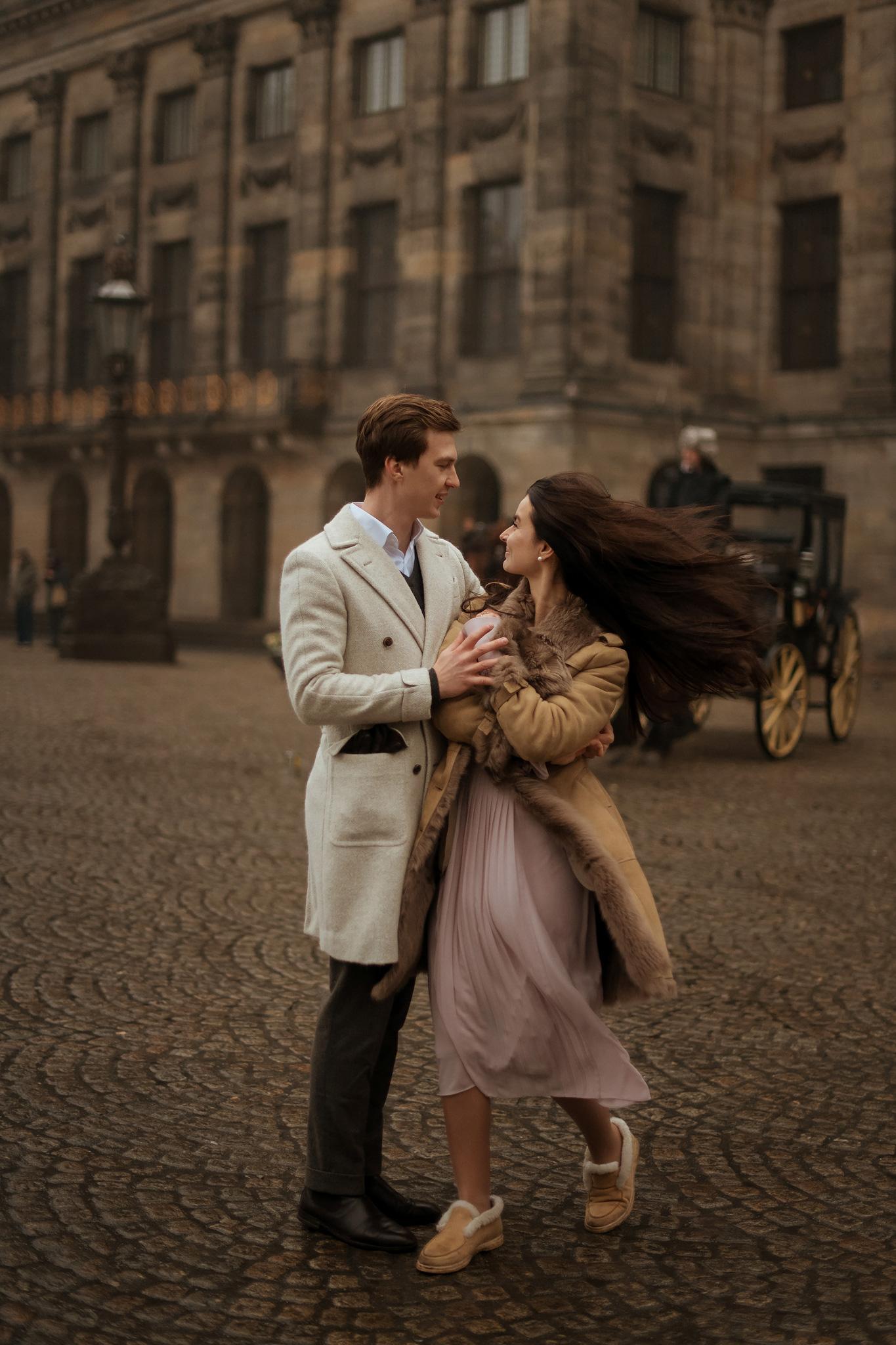 Love in Dam square in Amsterdam