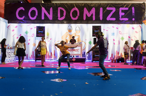 Condomize at AIDS 2018 in Amsterdam