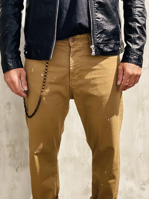 Jeans classico con schizzi