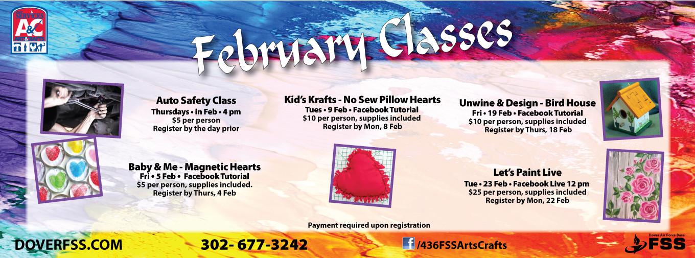 A&C February Classes