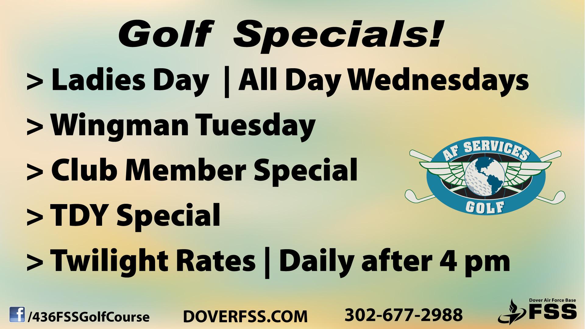 2021 Golf Specials