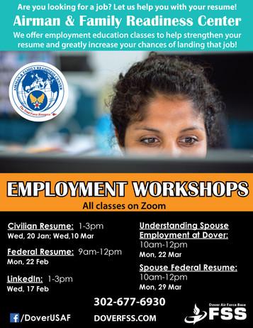 Employment Workshops 2021
