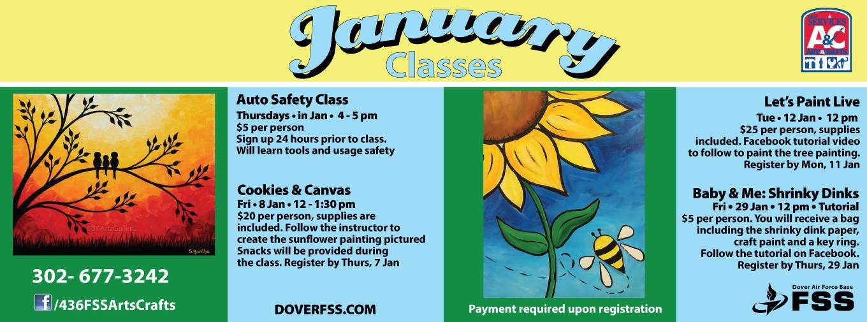 A&C January Classes