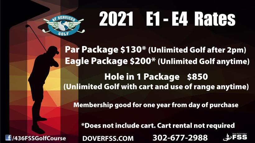 2021 Rates for E1-E4