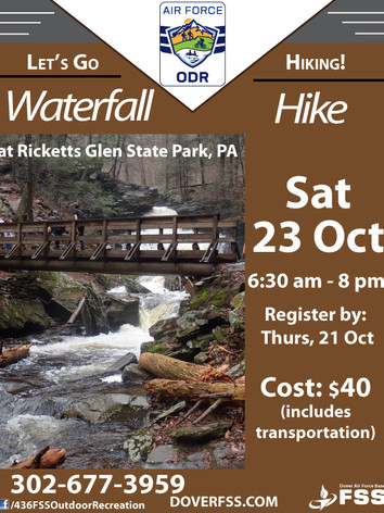 Waterfall Hike  at Ricketts Glen State Park