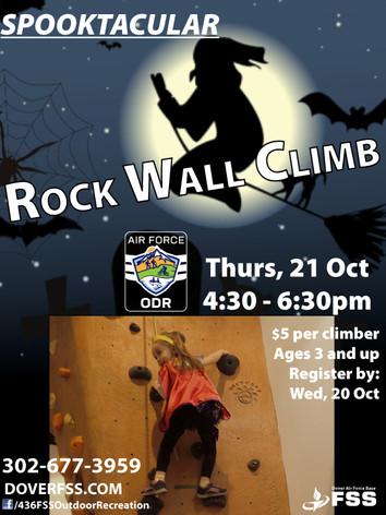 Rock Wall Climb 🦇 Spooktacular!