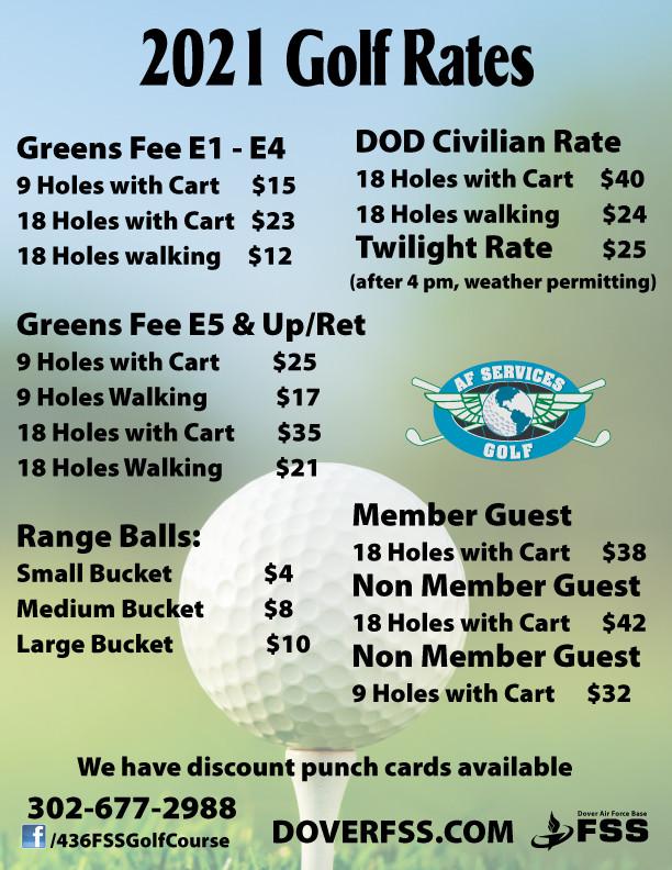 2021 Golf Rates
