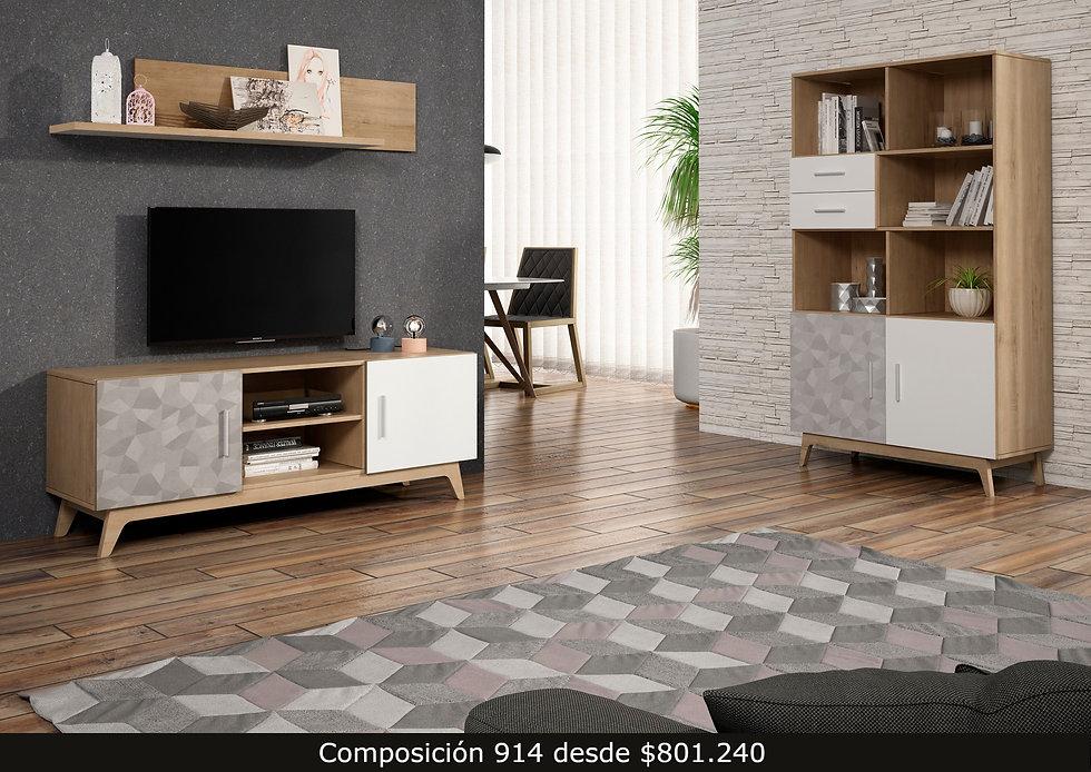 aparador living mueble tv repisa librero mesa