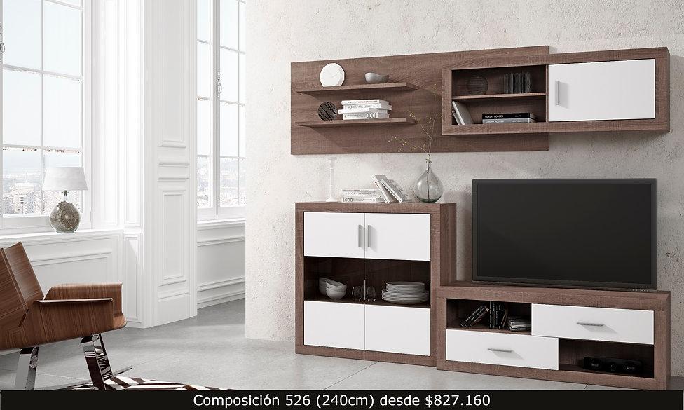 Composición living. Mueble TV