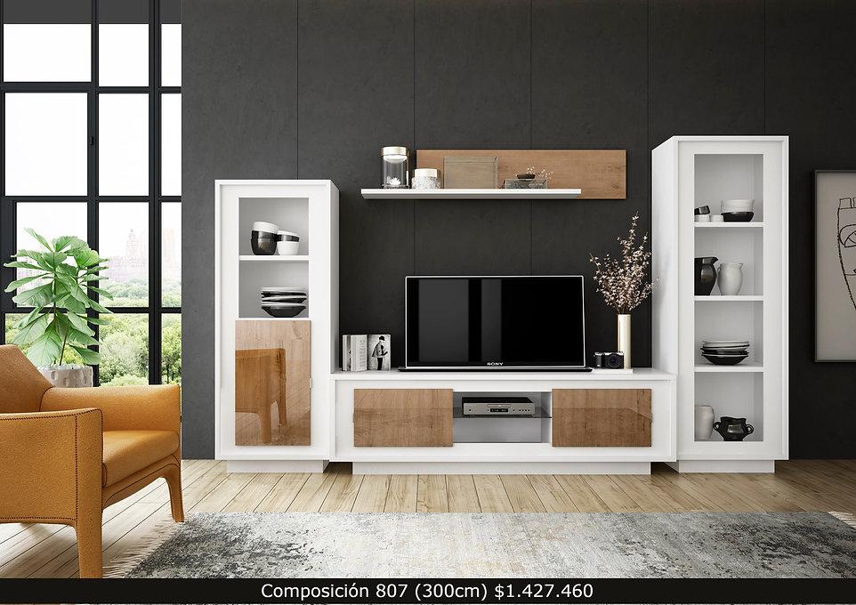 Composición living, mueble TV