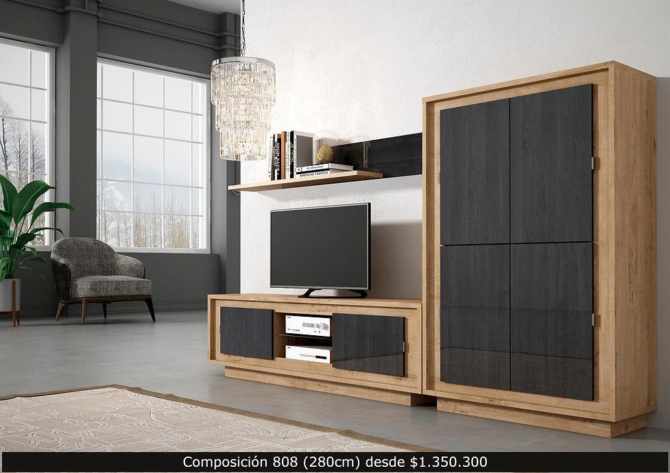 LIving, mueble TV, aparador, librero