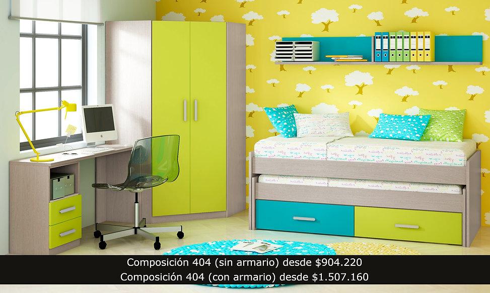 cama compacto escritorio repisa armario