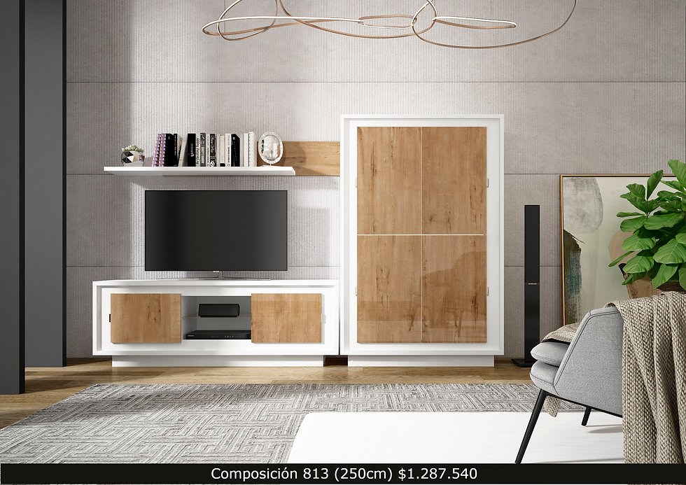 Mueble bajo TV, Repisa.