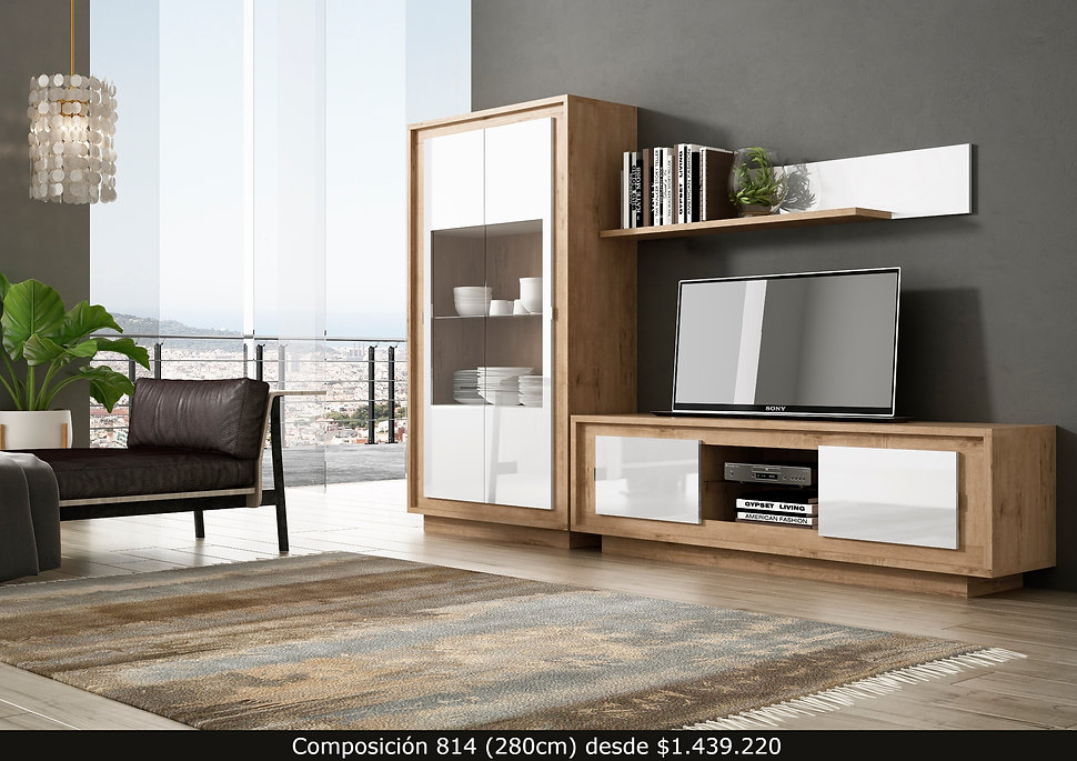 Vitrina. Mueble bajo TV. Repisa
