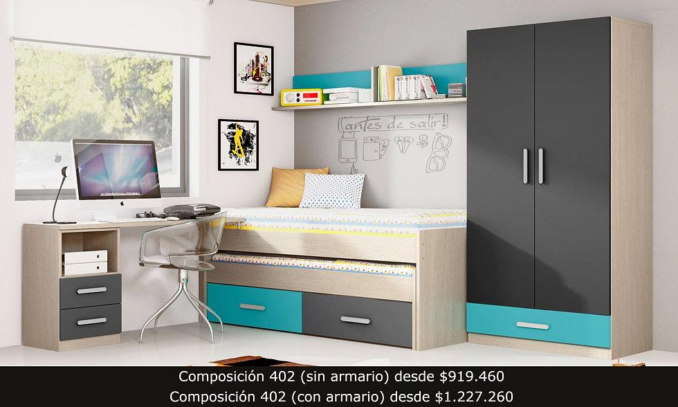 compacto armario escritorio repisa
