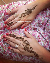 Henna for the guests #naturalhenna #rose
