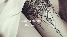 Tatouages Henné, Mandala, fleurs sur la cuisse