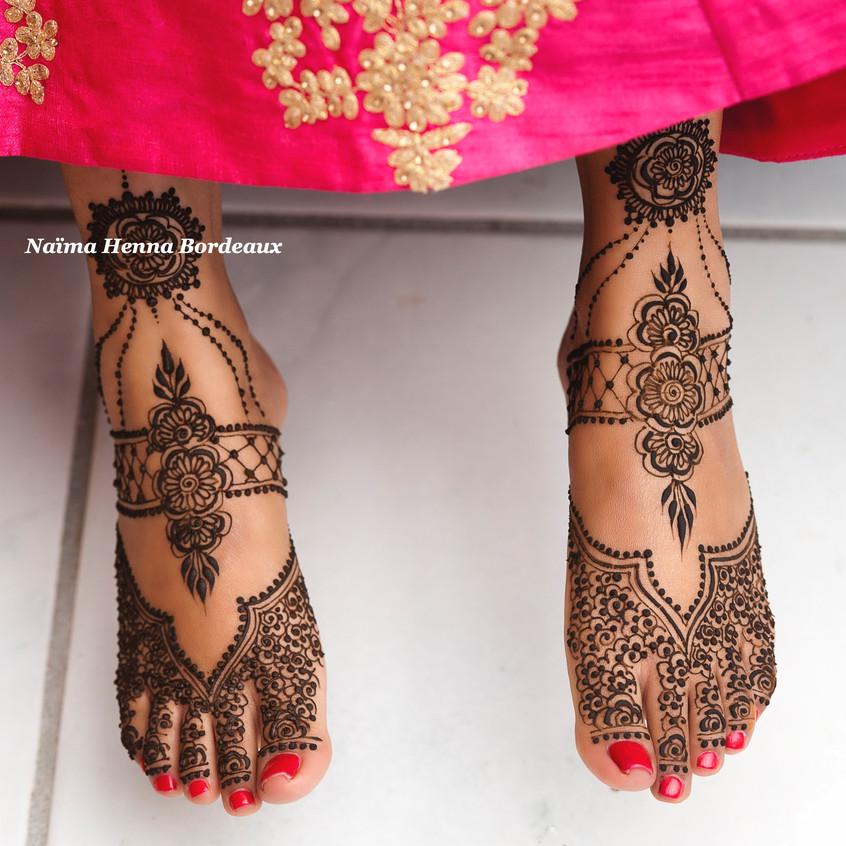 Henné pieds, mariage indien