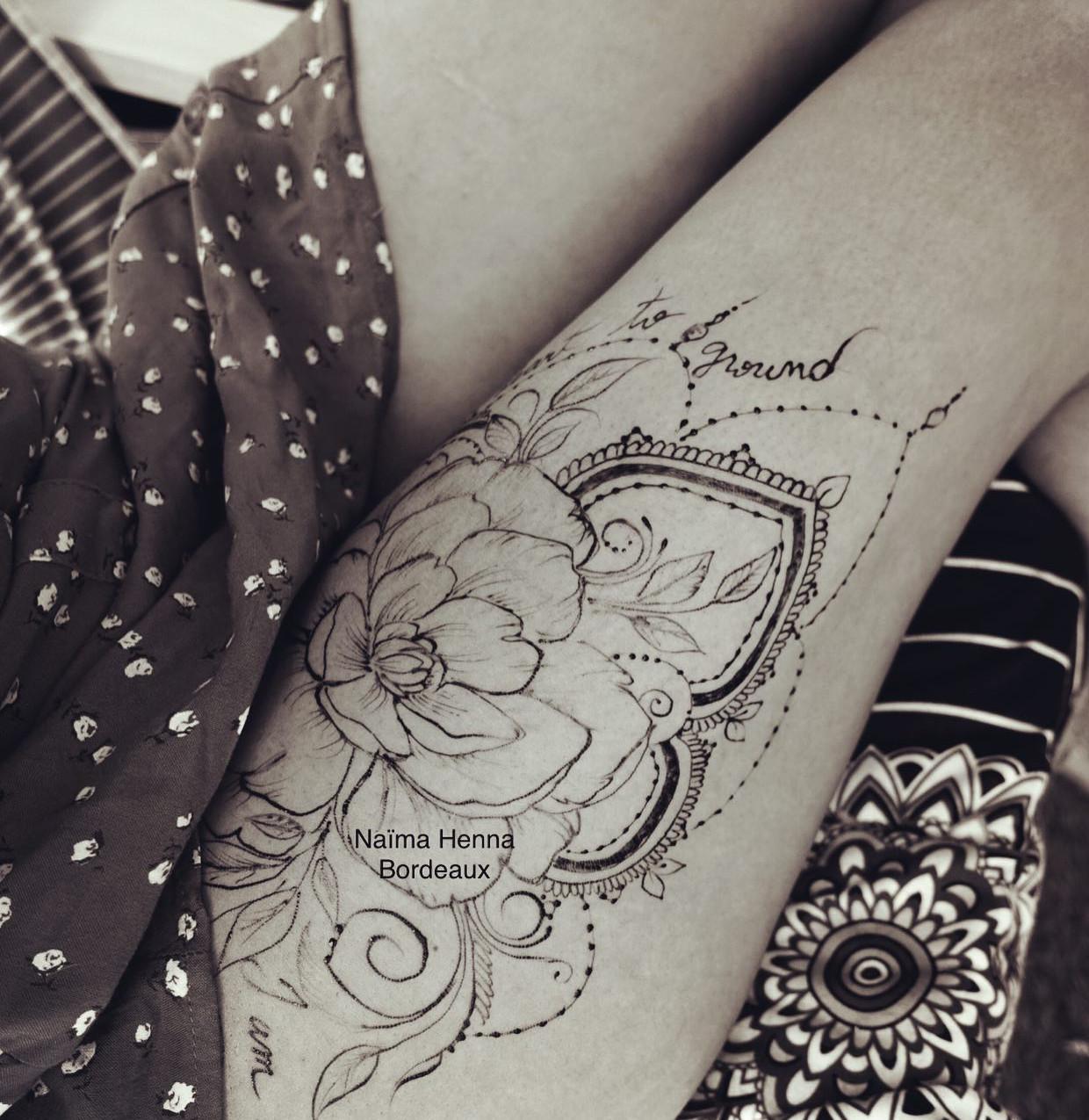Jagua Tattoo Pivoine