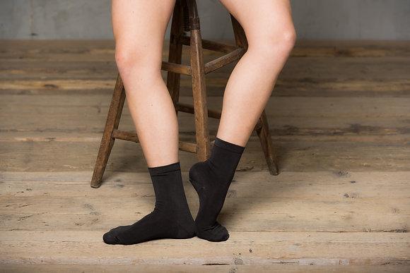 Calzino mezza caviglia con elastico in eucalipto