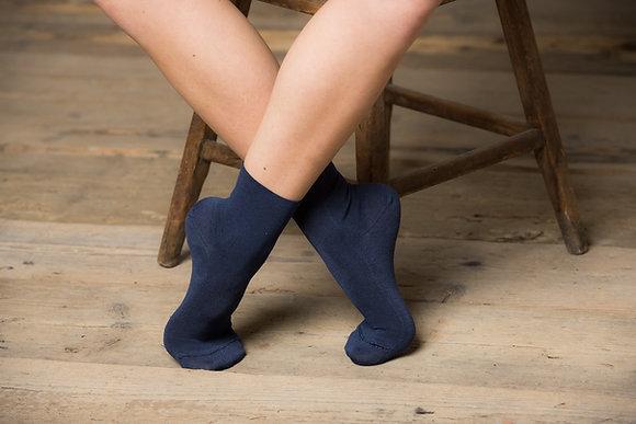 Calzino mezza caviglia senza elastico in eucalipto