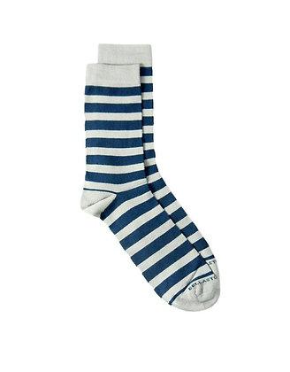 Calzini Bamboo - Righe grigio/blu
