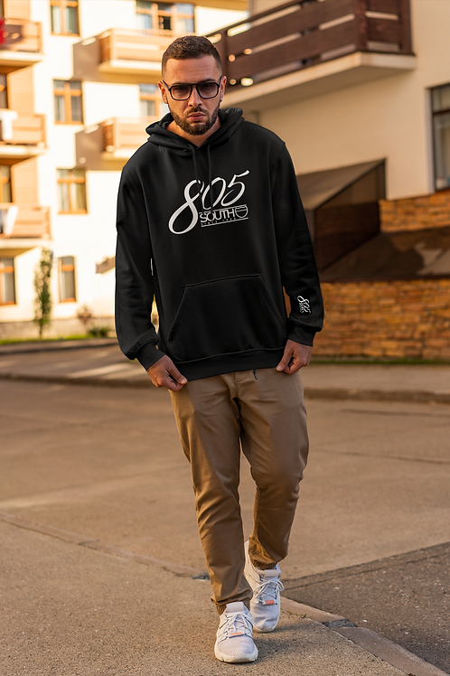 805 South Hoodie (Black w/White) ($45 incl. shipping)