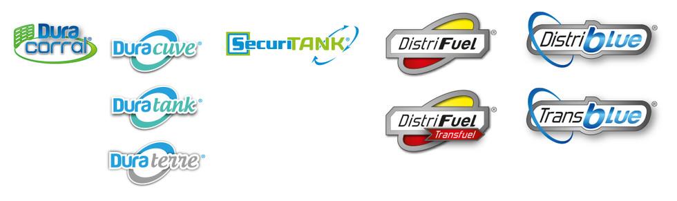 Logos des gammes de Duraplas