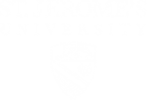 St. Jerome's University Logo in white