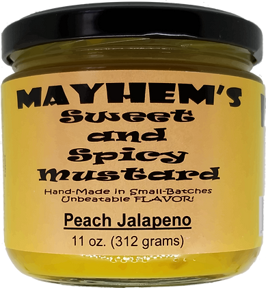 Sweet & Spicy Mustard Peach Jalapeno